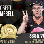 Rob Campbell wins second WSOP bracelet