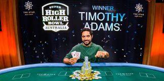 Timothy Adams wins Super High Roller Bowl Australia