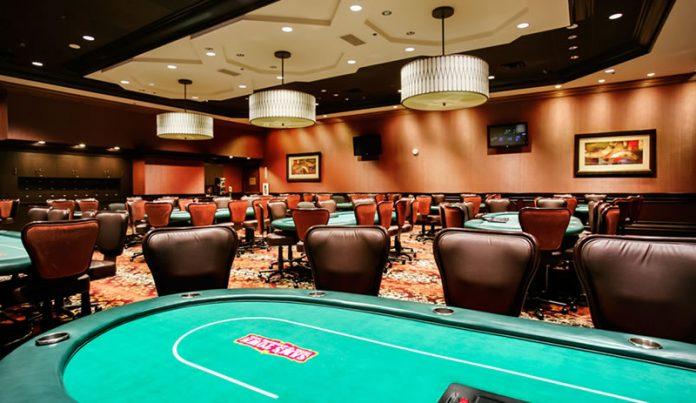 Empty Poker Room