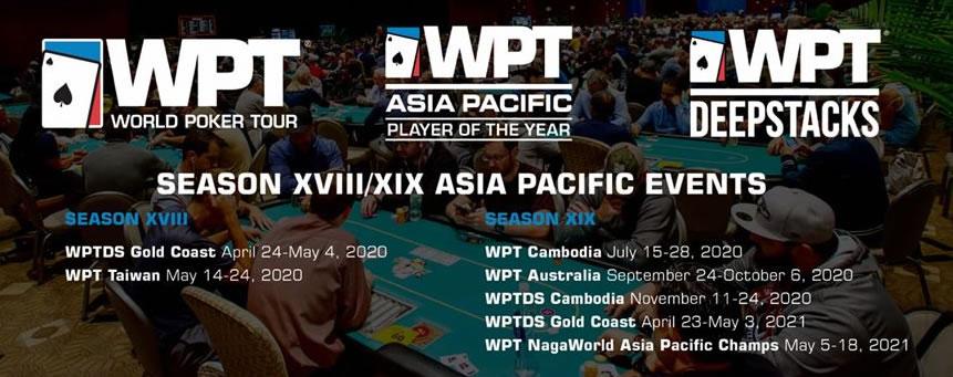 WPT Season XIX Asia Pacific Schedule